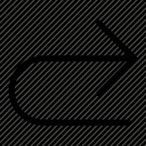 arrow, forward, next, previous, redo icon