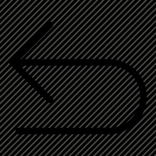 arrow, direction, next, previous, undo icon