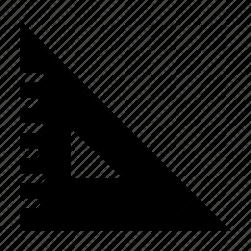 algebra, geometry, math, ruler, triangle icon