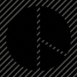 chart, graphic, percent, pie, report icon