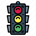 light, road, sign, signaling, traffic, transportation icon
