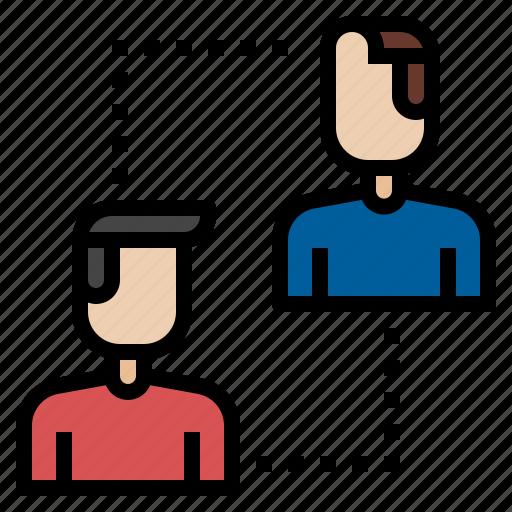 businessman, relationship, team icon
