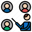 call, conference, conversation, interview, video icon