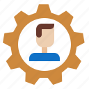 atom, development, employee, personalworker icon