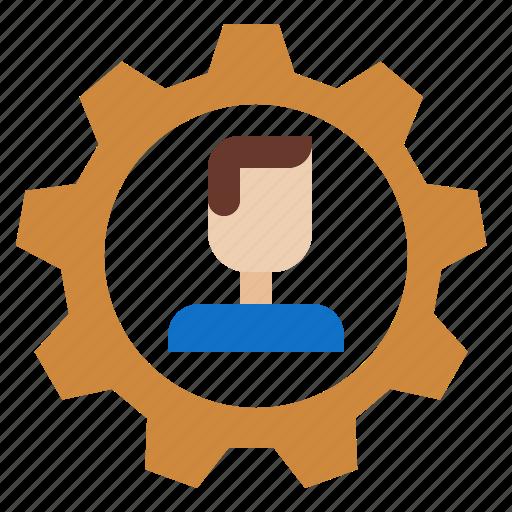 atom, development, employee, personalworker icon