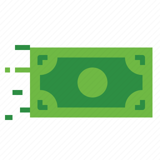 bill, dollar, finance, flow, money, move icon