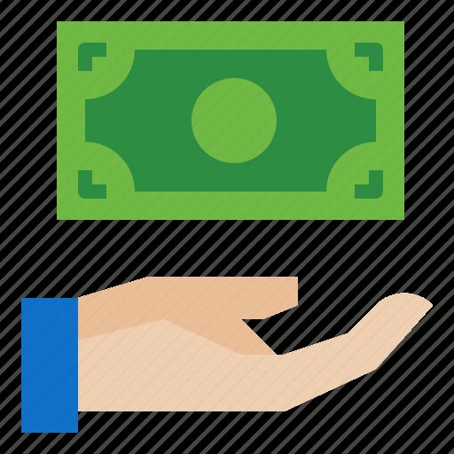 bundle, dollars, money, of icon