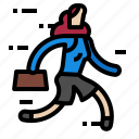 avatar, business, person, profile, run, woman icon