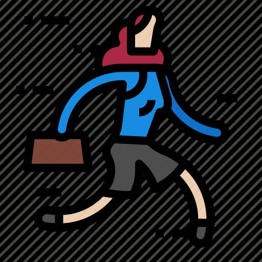 avatar, business, person, profile, run, woman icon