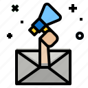 mail, marketing, promotion icon