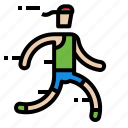 jogger, man, running icon