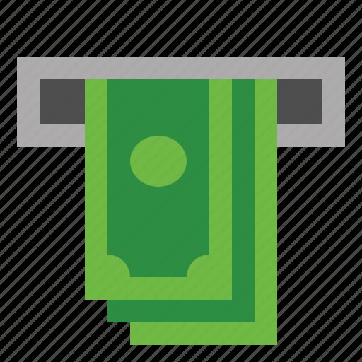 atm, bank, money, papermoney icon