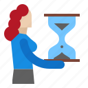employee, forward, looking, searchjob icon