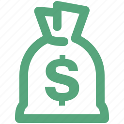 finance, investment, loan, money bag icon