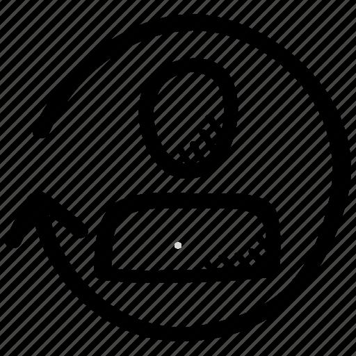 account, man, profile, refresh, user icon