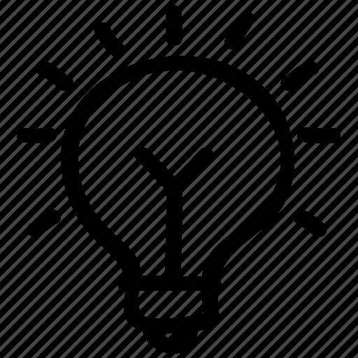bulb, idea, innovation, invention, light icon