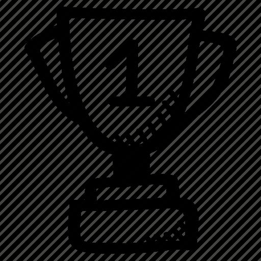 award, first rank, prize, trophy, winner icon
