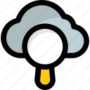 cloud computing, cloud portal, cloudsearch, icloud, magnifier icon