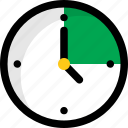 clock, timekeeper, timer, wall clock, watch icon