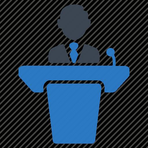 Business, businessman, conference, lecturer, meeting, presentation, teacher icon - Download on Iconfinder
