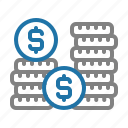 business, coin, finance, investment, money icon