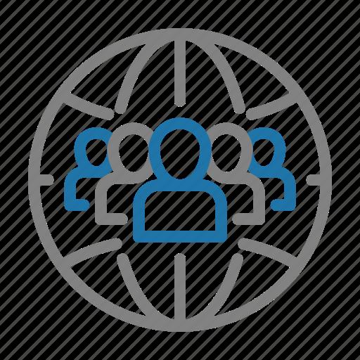 business, finance, marketing, people, target, teamwork icon