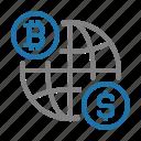 bitcoin, business, digital, finance, money icon