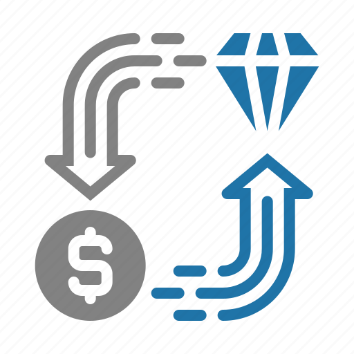 business, diamond, finance, investment icon