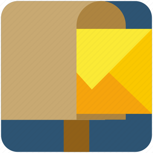 email, envelope, letter, mail, post, postbox icon
