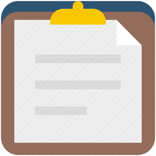 business, clipboard, document, list icon