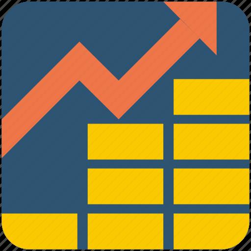 arrow, business, graph, increase icon