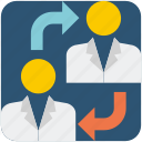 business, businessmen, deal, dealing, people, sharing icon
