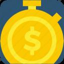 deadline, deposit, dollar, money, stopwatch, timer