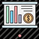 board, business, dollar, graph, presentation