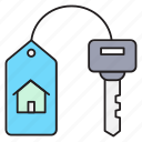 house, key, keychain, lock, protection