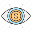 audit, currency, dollar, finance, view icon