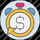 business, deadline, fast, money, return, stopwatch