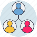 accounts, business, connection, teamwork icon