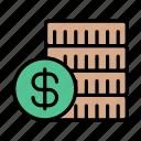 business, money, coins, dollar, budget