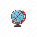 globe, earth, office, business, map