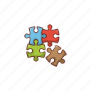 solution, jigsaw, puzzle, business, strategy