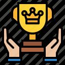 success, business, award, crown