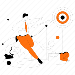 goal, oriented, aim, target