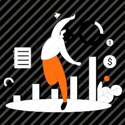 increase, sales, graph, chart