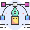 reshape, edit tools, graphic tool, graphic design, pointer