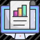 report, computer, chart, data analytics, statistics