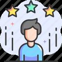 employee, favorite, stars, people, rating