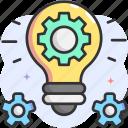 idea, setting, innovation, lightbulb, creative