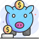 piggy bank, money, save money, savings, save