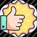 quality, reward, like, thumbs up, top